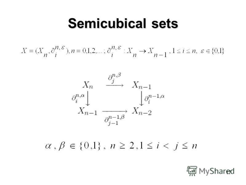 17 Semicubical sets