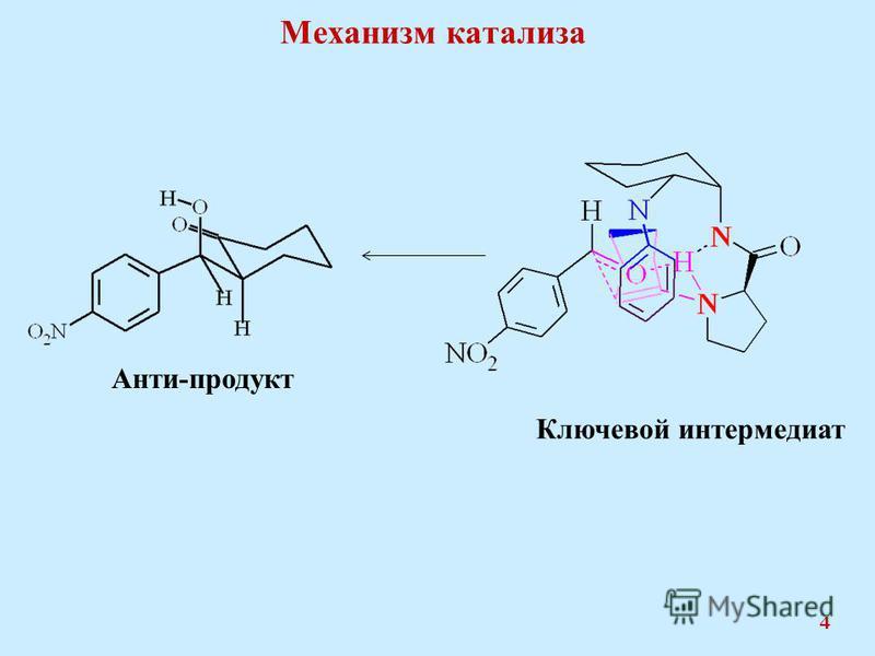 Механизм катализа 4 Анти-продукт Ключевой интермедиат