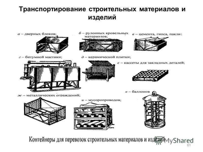 Транспортирование строительных материалов и изделий 61