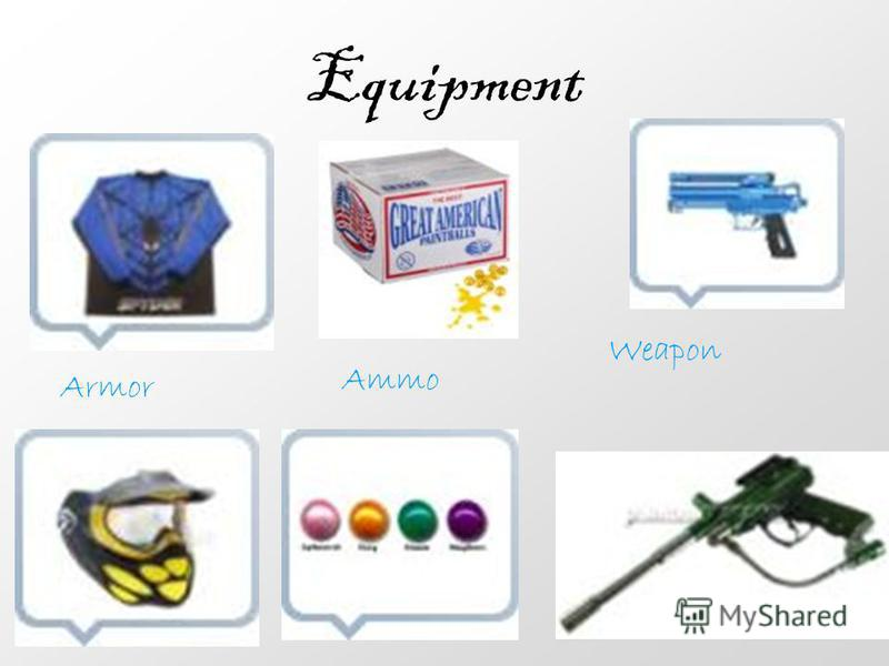 Equipment Armor Ammo Weapon