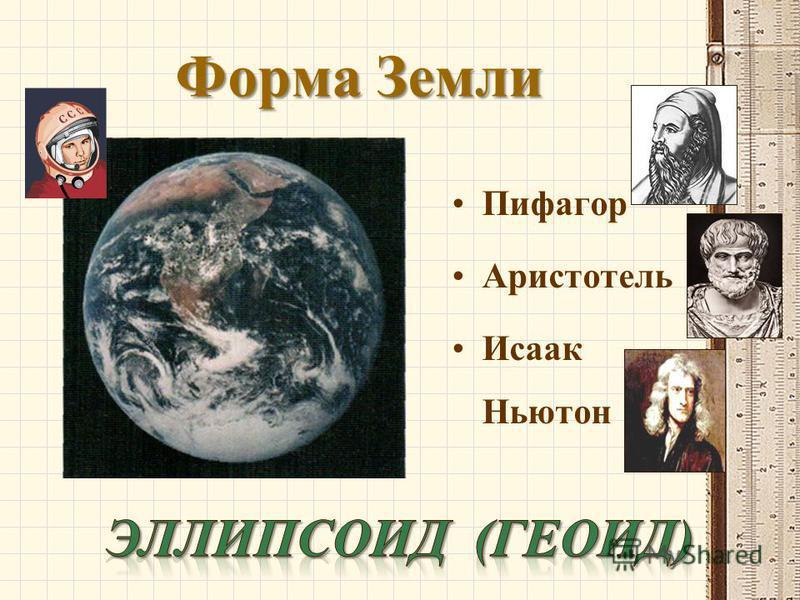 Форма Земли Пифагор Аристотель Исаак Ньютон