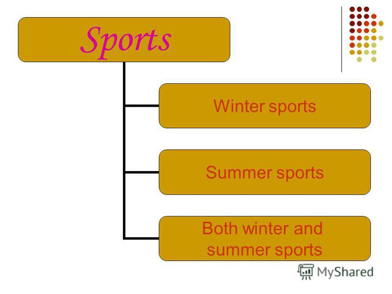 There are a lot of different kinds of sports