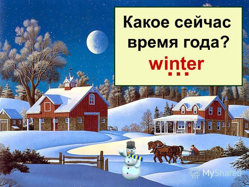 Какое сейчас время года? … winter