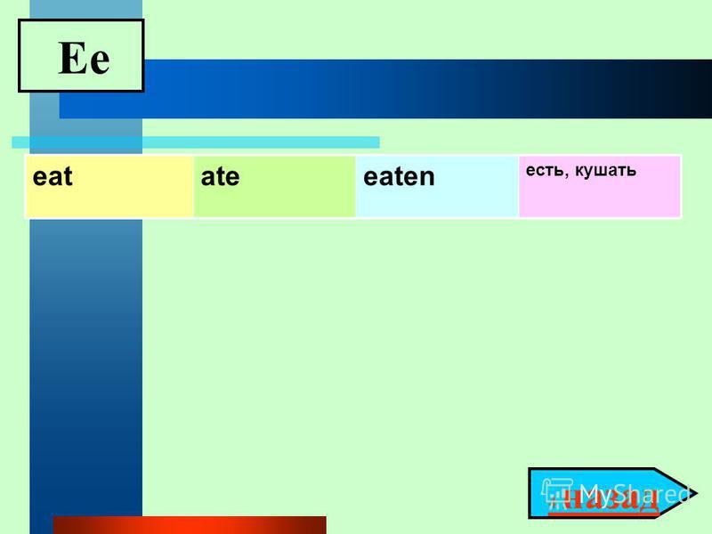 Ee 4 назад 4 назад eatateeaten есть, кушать