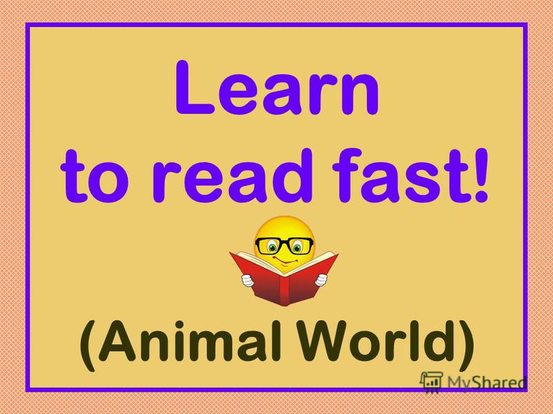 Learn to read fast! (Animal World)