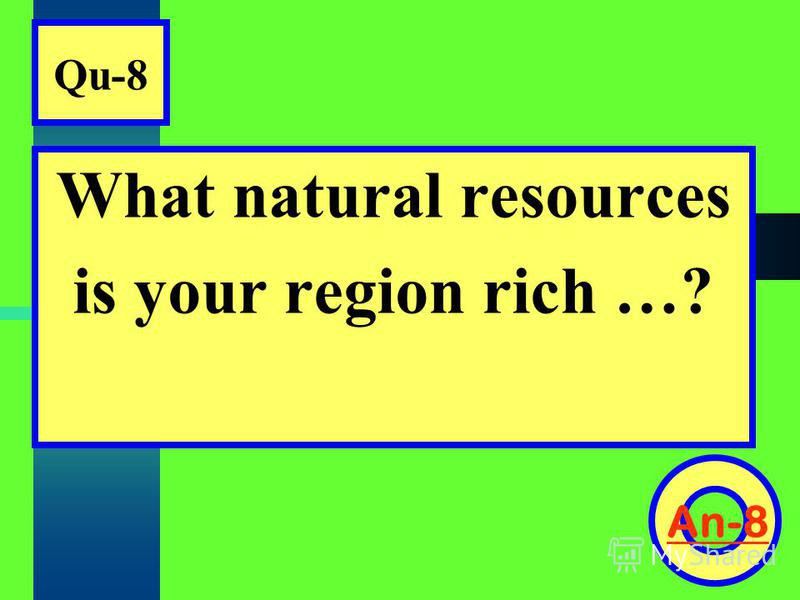 Qu-8 What natural resources is your region rich …? An-8
