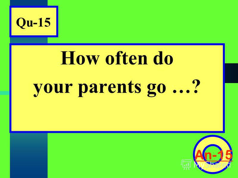 Qu-15 How often do your parents go …? An-15