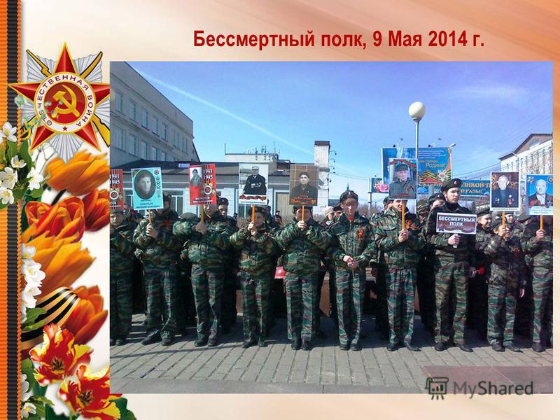 Бессмертный полк, 9 Мая 2014 г.