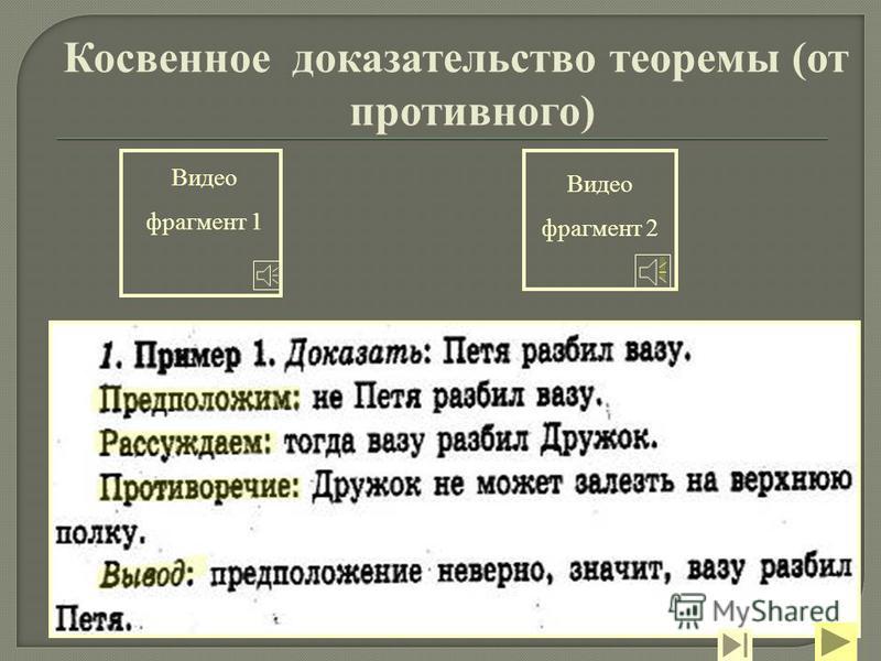 Видео фрагмент 2 Видео фрагмент 1