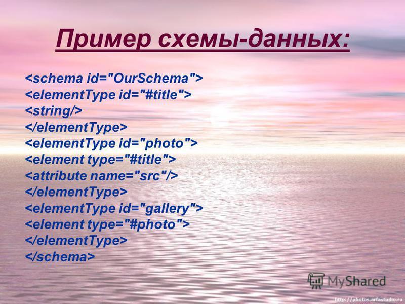 Пример схемы-данных: