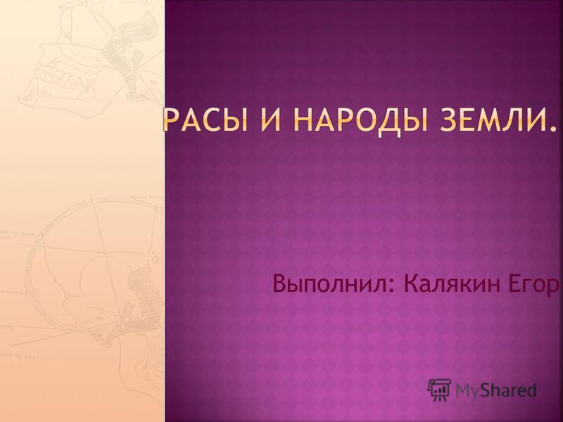 Выполнил: Калякин Егор