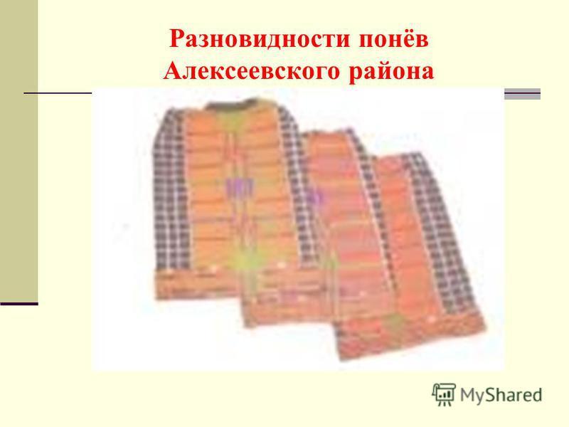 Разновидности понёв Алексеевского района