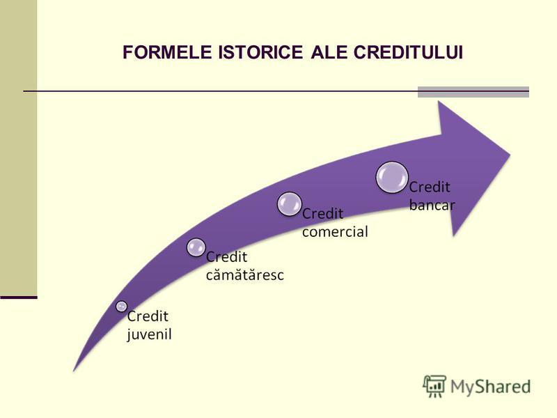 FORMELE ISTORICE ALE CREDITULUI