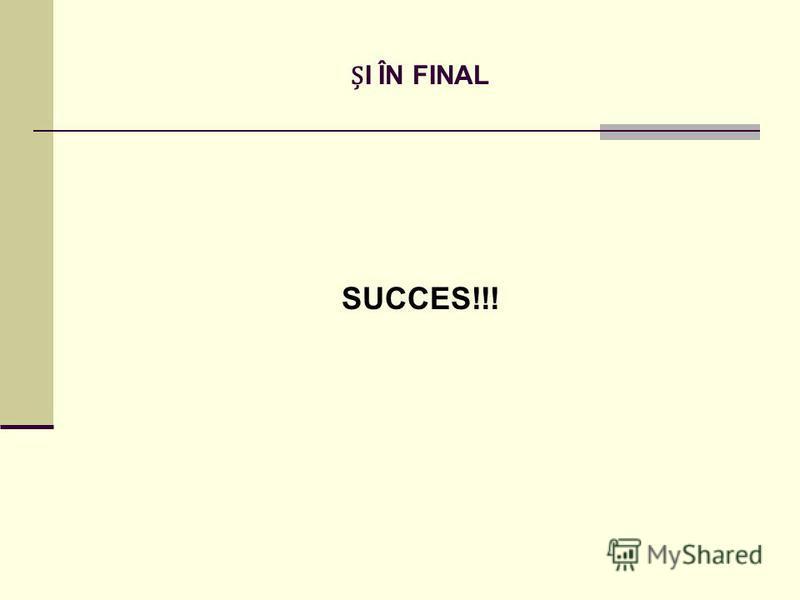 I ÎN FINAL SUCCES!!!