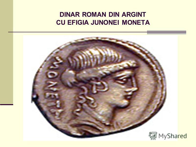 DINAR ROMAN DIN ARGINT CU EFIGIA JUNONEI MONETA