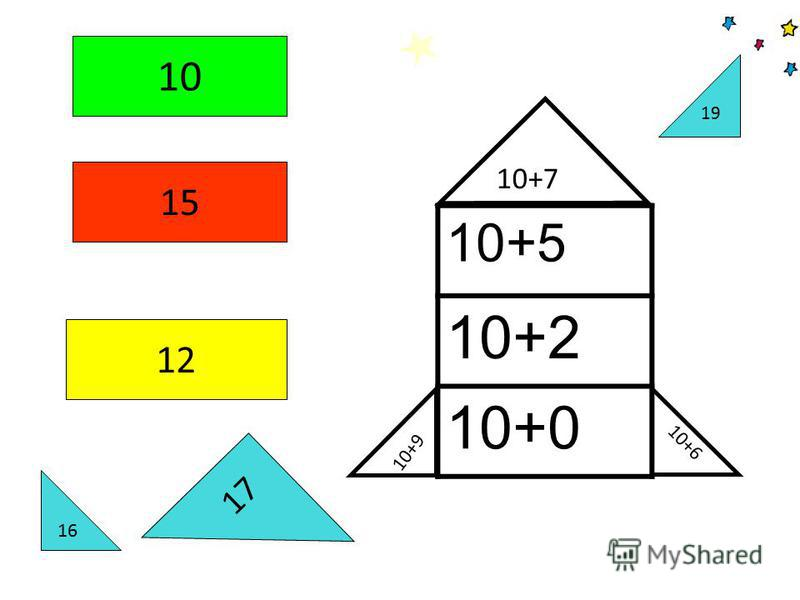 10+9 10+6 10+7 10+5 10+2 10+0 10 15 12 16 19 17