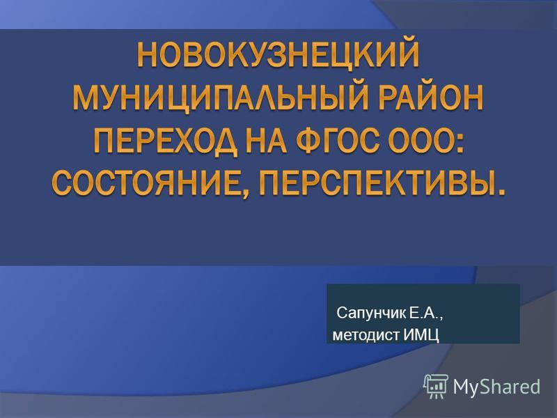 Сапунчик Е.А., методист ИМЦ