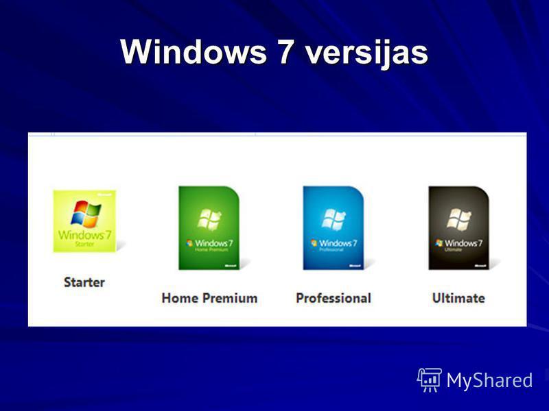 Windows 7 versijas