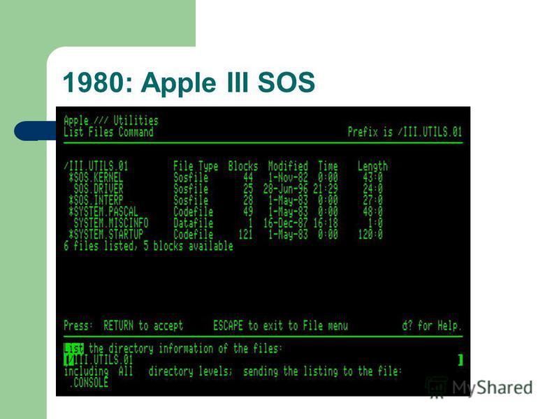 1980: Apple III SOS