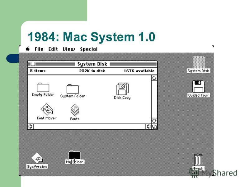 1984: Mac System 1.0