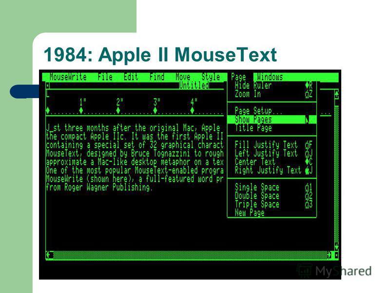1984: Apple II MouseText