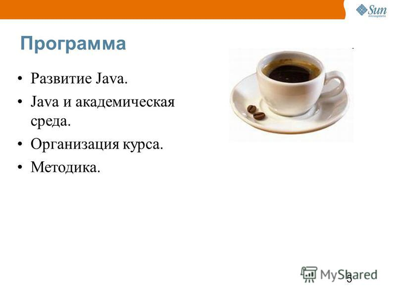 5 Программа Развитие Java. Java и академическая среда. Организация курса. Методика.