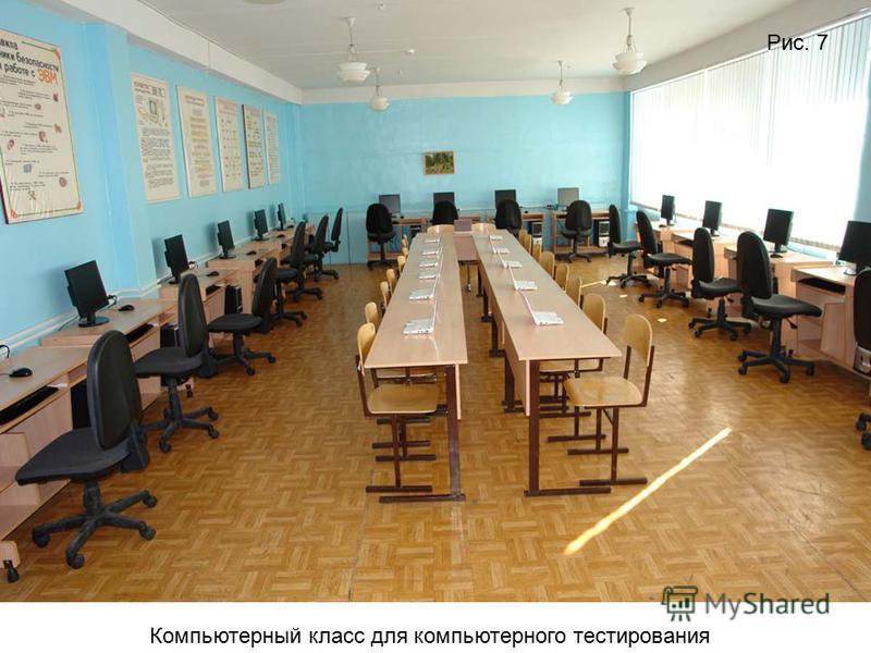 Компьютерный класс для компьютерного тестирования Рис. 7