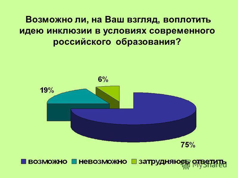 Возможно ли, на Ваш взгляд, воплотить идею инклюзии в условиях современного российского образования?