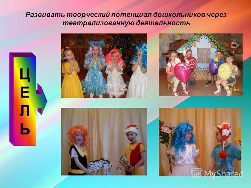 Развивать творческий потенциал дошкольников через театрализованную деятельность ЦЕЛЬЦЕЛЬ