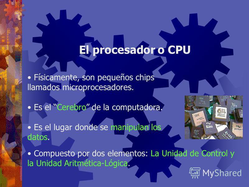 ¿Dónde se lleva a cabo el procesamiento de los datos? En la Unidad Central de Procesamiento (CPU) Repaso ¿Cómo se relacionan los elementos de hardware para procesar los datos? Según el modelo llamado Arquitectura Von Neumann