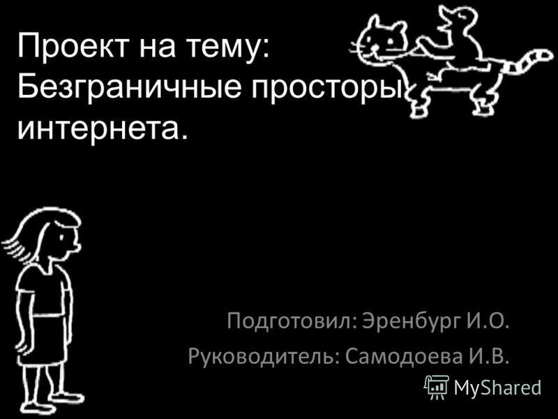 Проект на тему: Безграничные просторы интернета. Подготовил: Эренбург И.О. Руководитель: Самодоева И.В.
