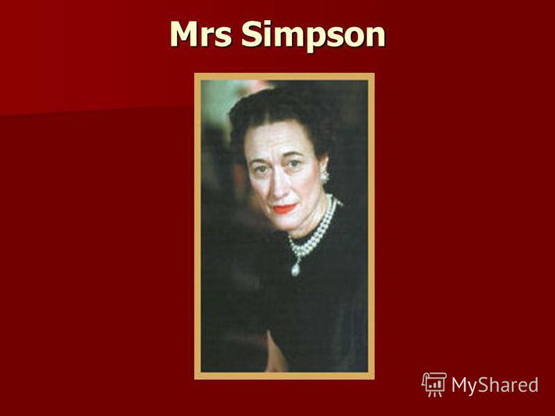 Mrs Simpson