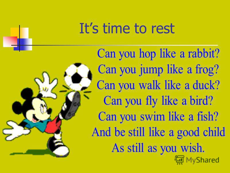 Its time to rest