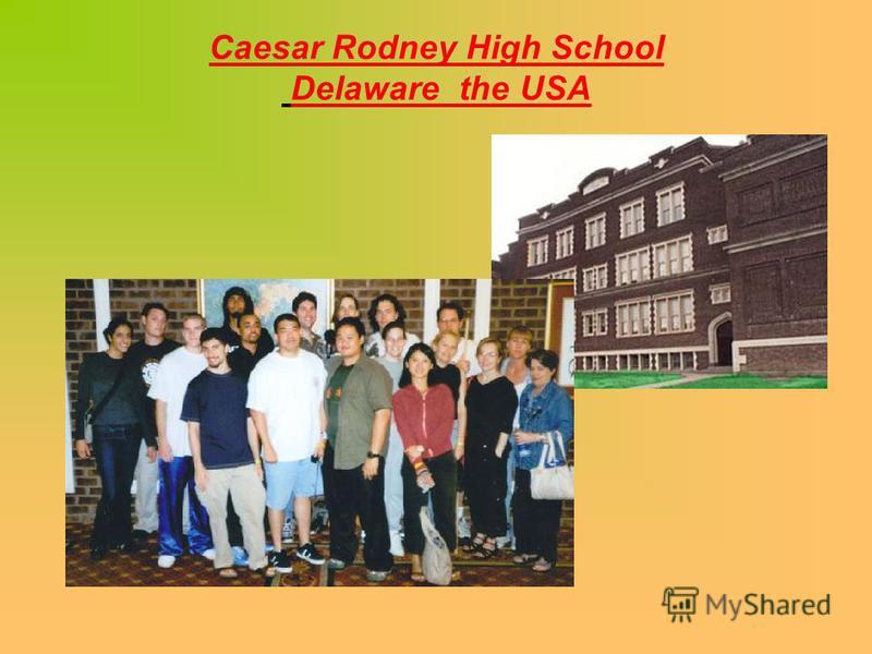 Caesar Rodney High School Delaware the USA