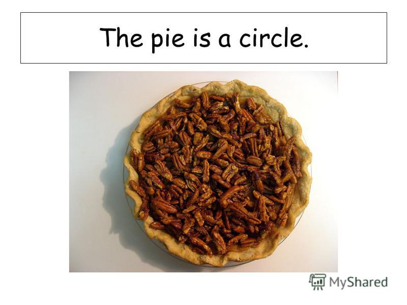The pie is a circle.