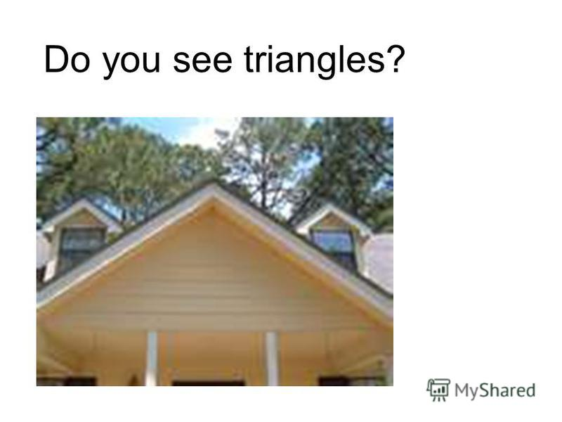 Do you see triangles?