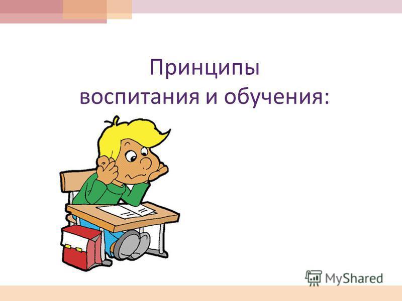 Принципы воспитания и обучения :