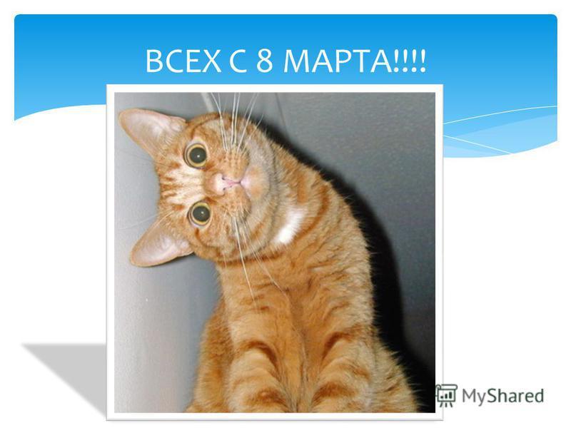 ВСЕХ С 8 МАРТА!!!!
