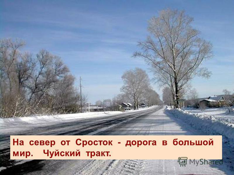 На север от Сросток - дорога в большой мир. Чуйский тракт.