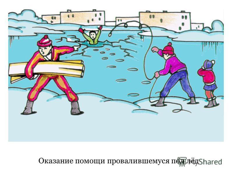 Оказание помощи провалившемуся под лёд