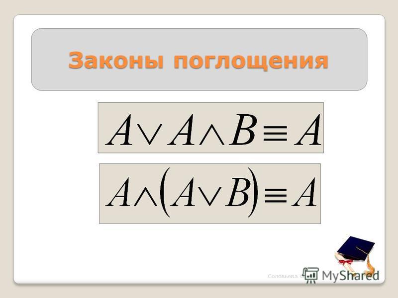 Законы поглощения Соловьева О. А.