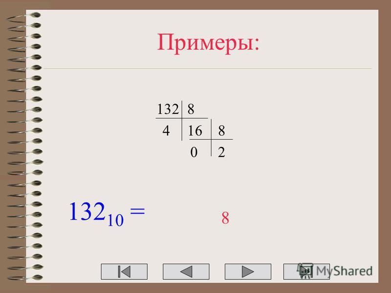 Примеры: 1328 1648 20 132 10 = 8
