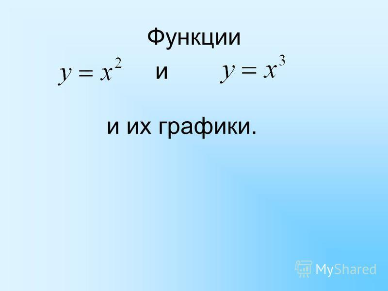 Функции и и их графики.