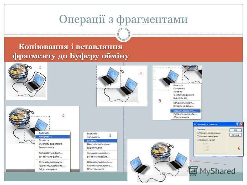 Копіювання і вставляння фрагменту до Буферу обміну Операції з фрагментами 1 2 3 4 5 6 …