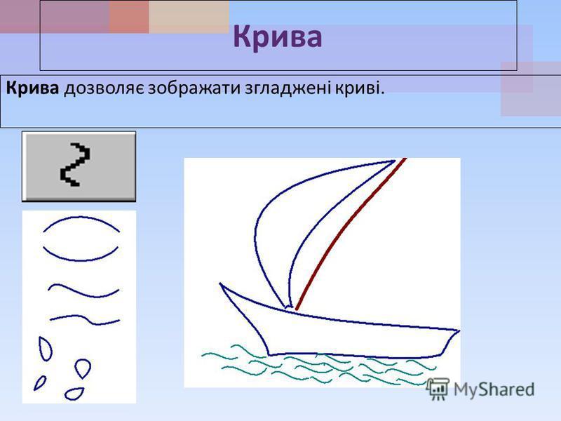 Крива Крива дозволяє зображати згладжені криві.