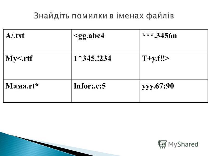 A/.txt<gg.abc4***.3456n My<.rtf1^345.!234T+y.f!!> Мама.rt*Infor:.c:5yyy.67:90