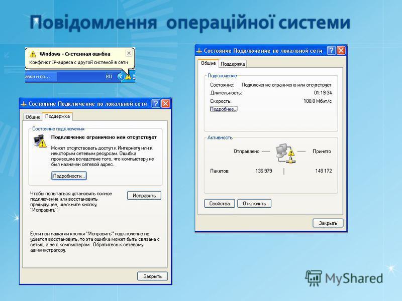 Повідомлення операційної системи