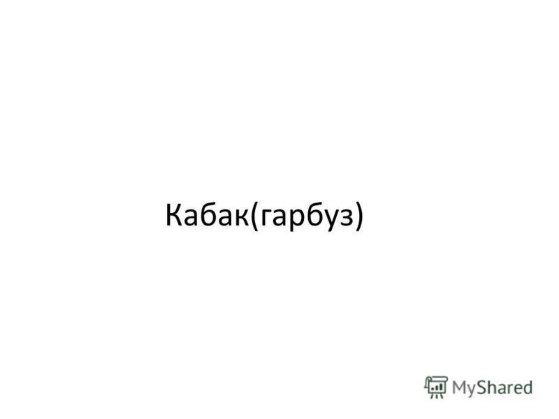 Кабак(гарбуз)