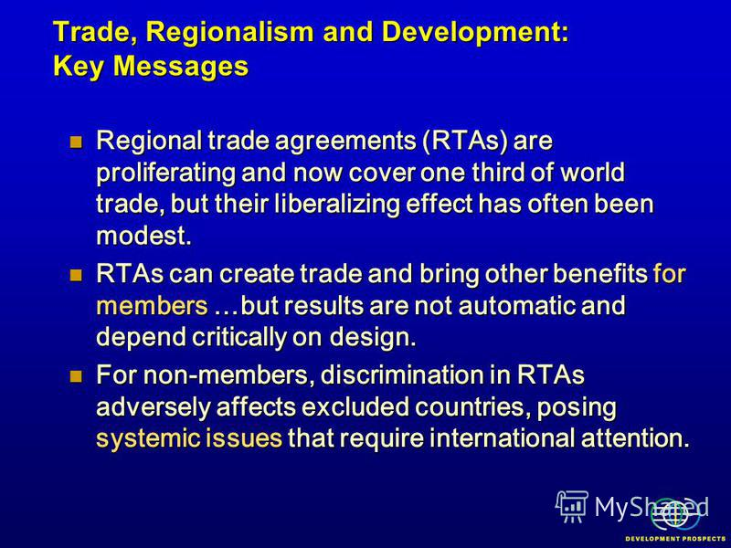 Regional trade agreements (RTAs) are proliferating and now cover one third of world trade, but their liberalizing effect has often been modest. Regional trade agreements (RTAs) are proliferating and now cover one third of world trade, but their liber