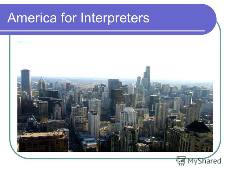 America for Interpreters